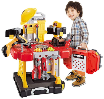 This is an image of boy's 100 pieces construction toy