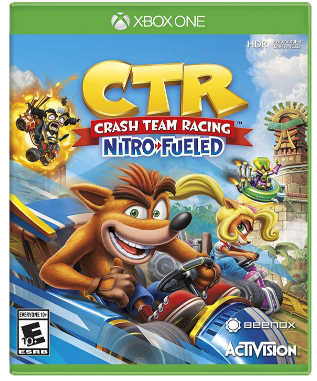 This is an image of kid's Crash team racing game for xbox one