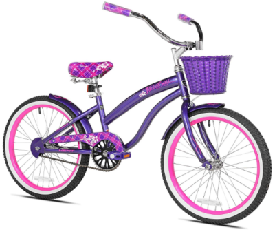 This is an image of girl's cruiser bike in purple color
