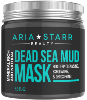 This is an image of girl's dead sea mud mask in black color
