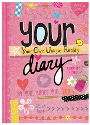 This is an image of girl's diary illustator book in pink color