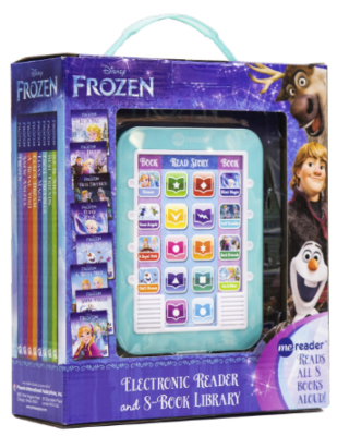 This is an image of girl's disney frozen electronic reader with sounds in blue color