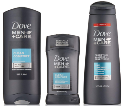 This is an image of boy's dove men care gift pack