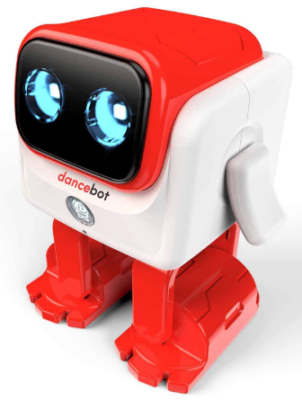 This is an image of boy's educational dancing robot in white and red colors