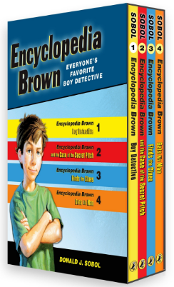 This is an image of kid's encyclopedia brown book set