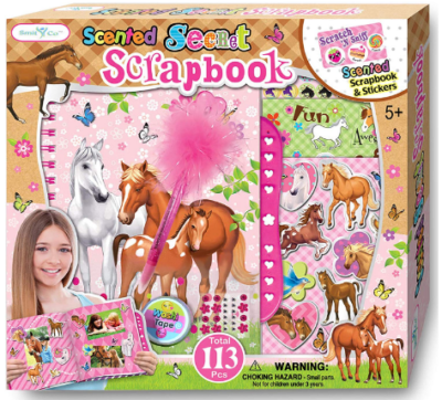 This is an image of kid's horse craft kit