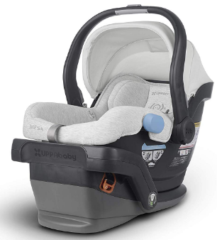 This is an image of infant's car seat by UPPAbaby in white color