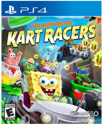 This is an image of kid's kart racers with differents cartoon personality for playstation 4