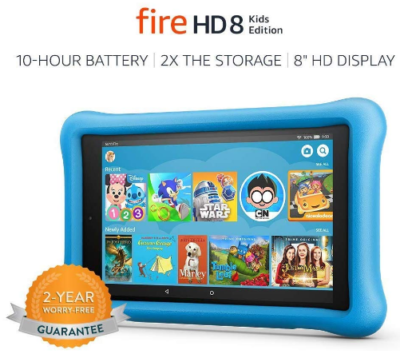 This is an image of boy's HD tablet in blue color