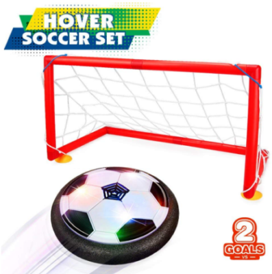 This is an image of boy's hover soccer ball set in red color