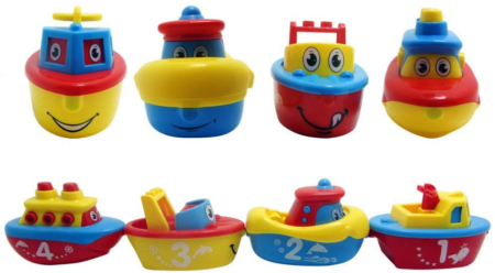 This is an image of boy's magnet boat set in mult colors