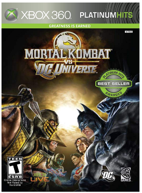 This is an image of boy's Mortal kombat vs Dc universe game for xbox 360 console
