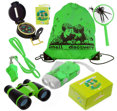 This is an image of boy's outdoor camping pack in green color