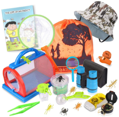 This is an image of girl's outdoor explorer kit pack