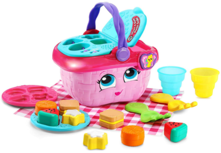 This is an image of girl's picnic basket toy in colorful colors