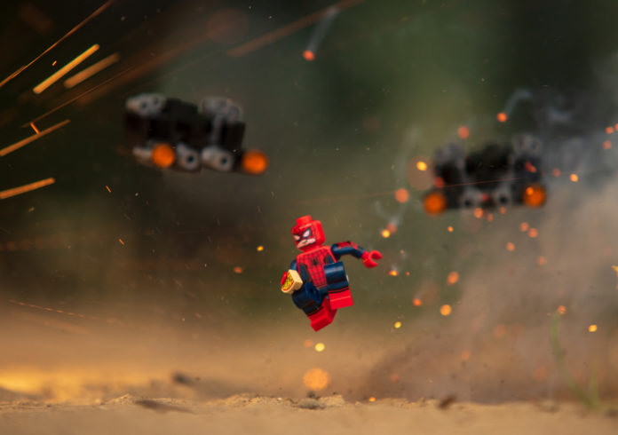 this is an image of a spiderman lego figure
