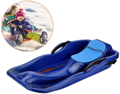 This is an image of kid's snow sled racer in blue color
