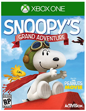 This is an image of kid's snoopy's grand aventure game for xbox one