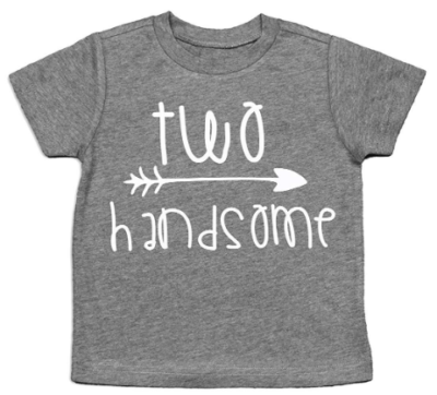 This is an image of boy's two years Tshirt in gray color