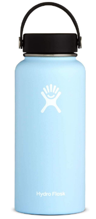 This is an image of girl's water bottle in turquoise color