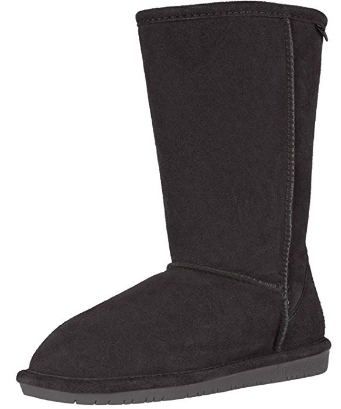 This is an image of girl's Emma tall Winter boot in black color