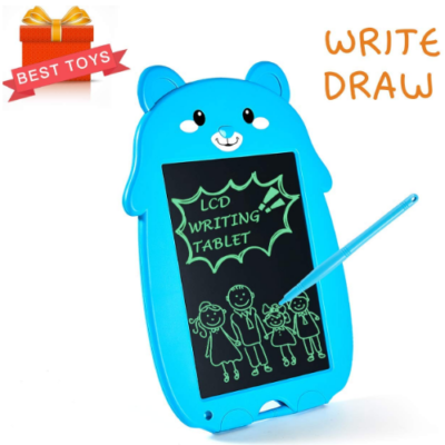 This is an image of boy's LED writing tablet in blue color