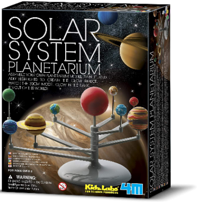This is an image of kid's 4M solar system planetarium