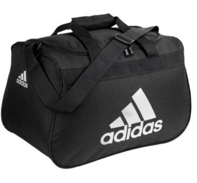 This is an image of a black duffel bag for teenage boys.
