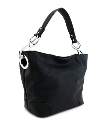 This is an image of a black shoulder bag for women by Alyssa.