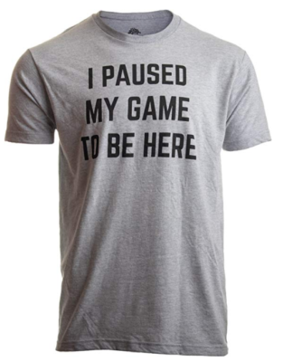This is an image of a video gamer t-shirt for men.