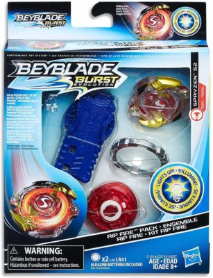 This is an image of a Rip Fire Spryzen by Beyblade.