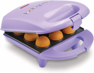 This is an image of a mini purple cake pop maker.