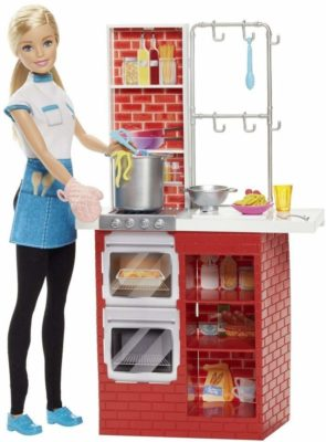 This is an image of as chef barbie doll play set.