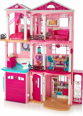 This is an image of a 3 storey Barbie Dreamhouse.