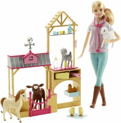 This is an image of a Barbie vet doll playset.