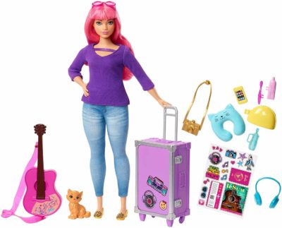 This is an image of a Daisy travel barbie doll.