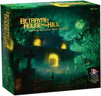 This is an image of a Betrayal At House On The Hill strategy board game for 12 year old kids.