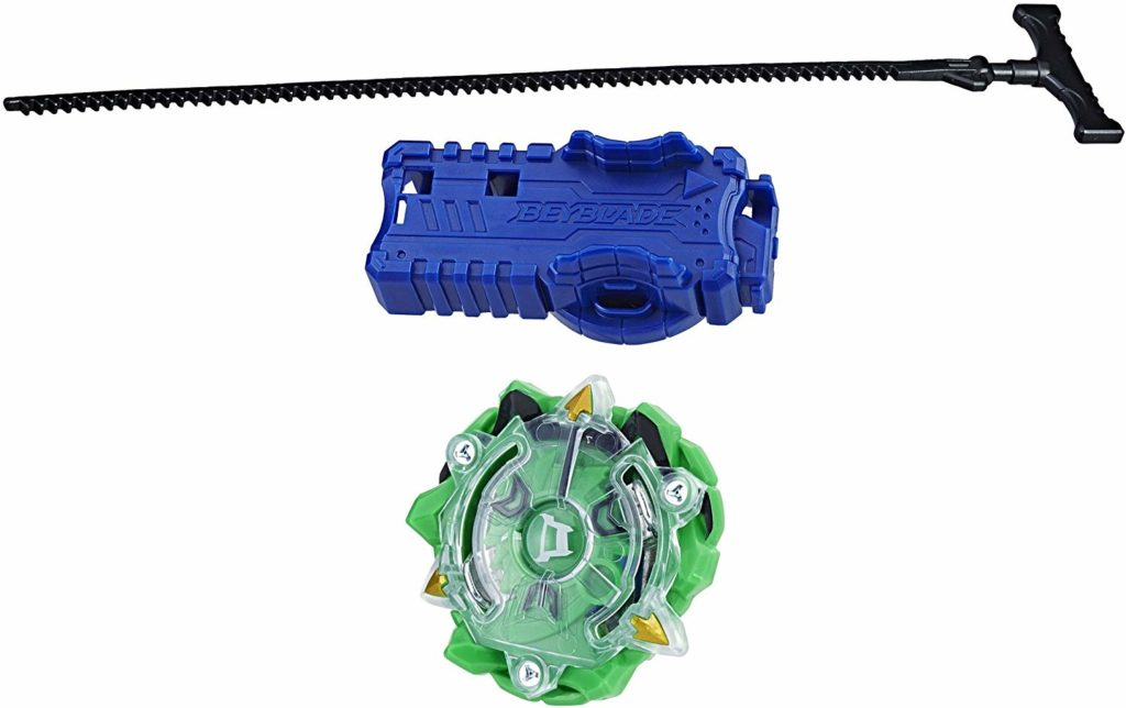 This is an image of a Diomedes beyblade starter pack.