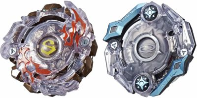 This is an image of a Surtr S2 and Odax O2 beyblade dual pack.