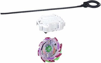 This is an image of a Wyvron W3 beyblade starter pack.