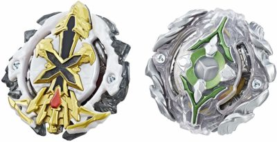 This is an image of a Xcalius X2 and Yegdrion Y2 dual pack by beyblade.