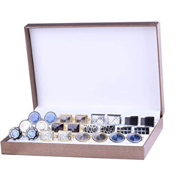 This is an image of a 12 pair classy cuff links for men by BodyJ4You.