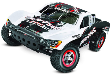 This is an image of kid's Brushless Short Course Truck in white color