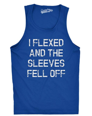 This is an image of a blue workout sleeveless for teenage boys.