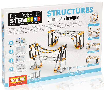 This is an i;mage of kid4s STEM constructions building kit