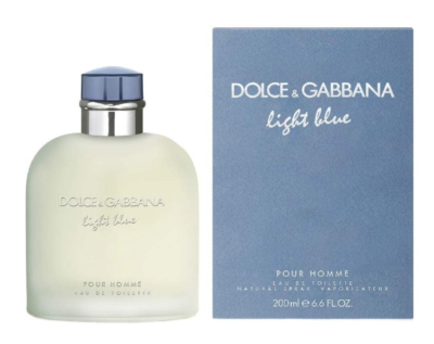 This is an image of a Light Blue Dolce & Gabbana men's perfume.