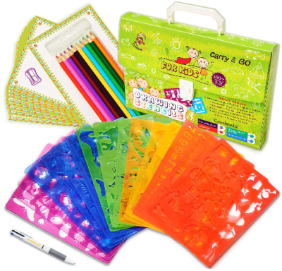 This is an image of Drawing Stencils Set for Kids