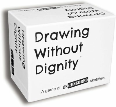 This is an image of a drawing with dignity party game for teens and adults.