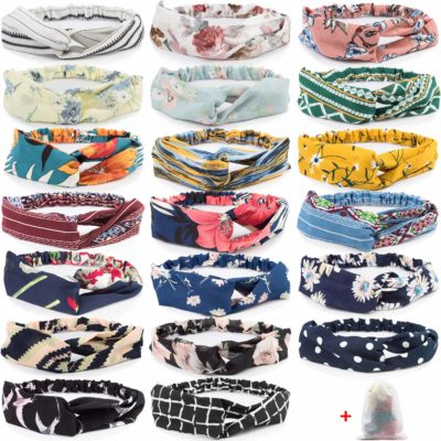 This is an image of a 20 styles boho headbands for women.