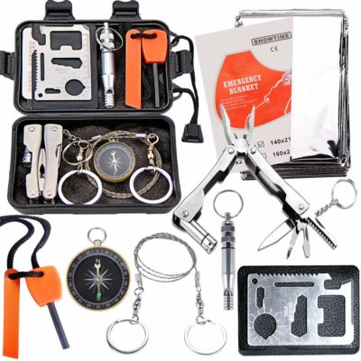 This is an image of a survival tools set.